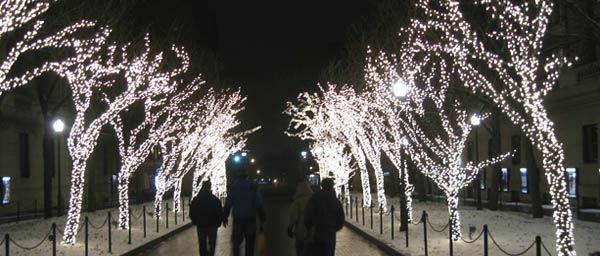Luces de Navidad en la Universidad de Columbia